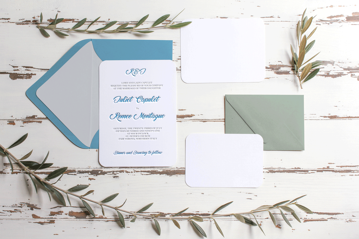 Bespoke Impressions Letterpress UK Letterpress Wedding Invitations
